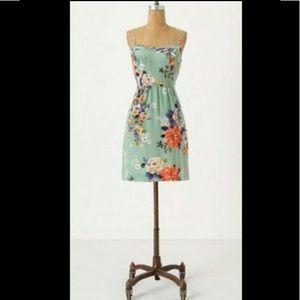 Anthro Moulinette Soeurs silk floral sun dress